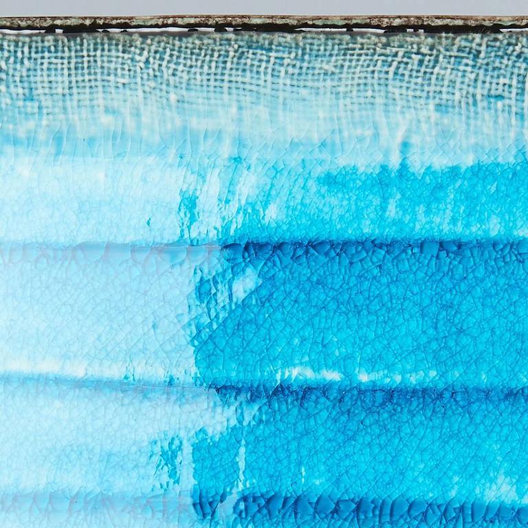SKY BLUE SUSHI PLATE RECT 21X13CM