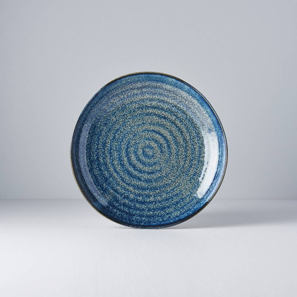 Indigo Glazed Ceramic Large Shapes
