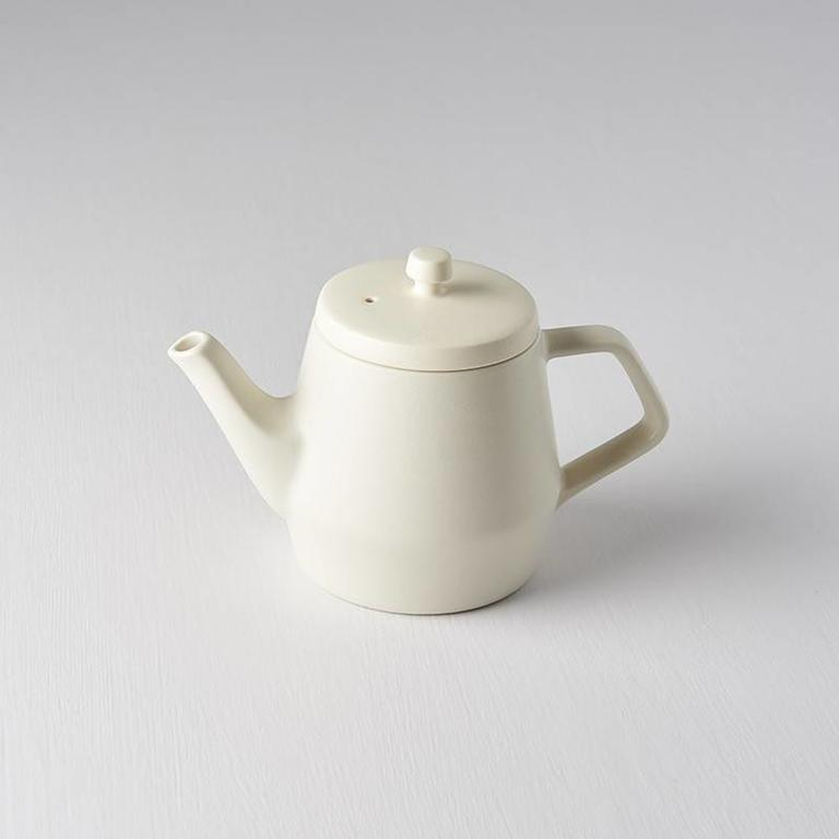 TEAPOT TALL STYLE WHITE BISQUE BASE 8D X 11H STRAINER