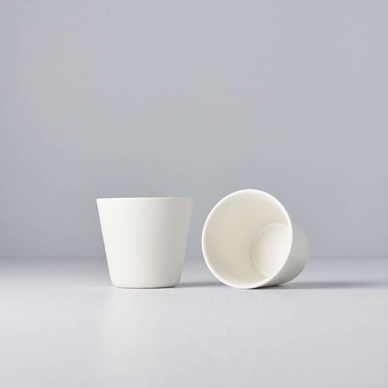 V-Shape Teacup White 7.5cm