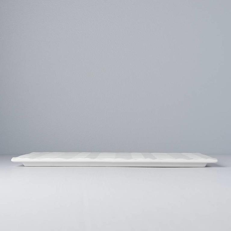 3D Textured Platter White 33cm