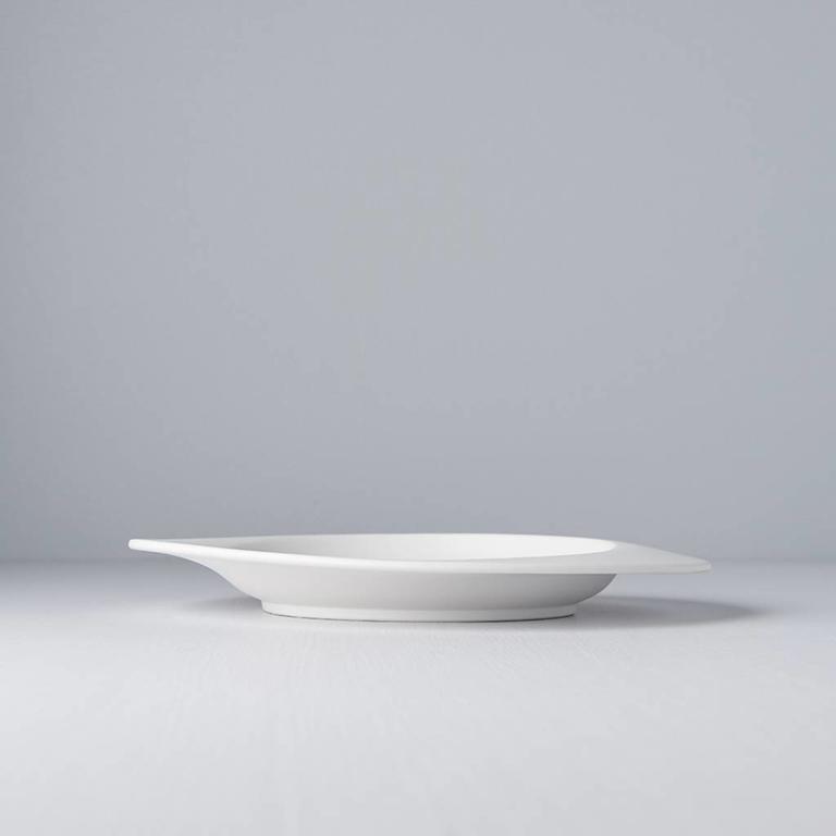 Eclipse Plate Matt White 25cm