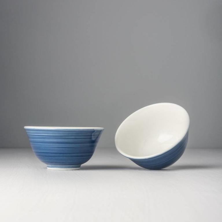 Teacup Dark Blue Outer White Inner
