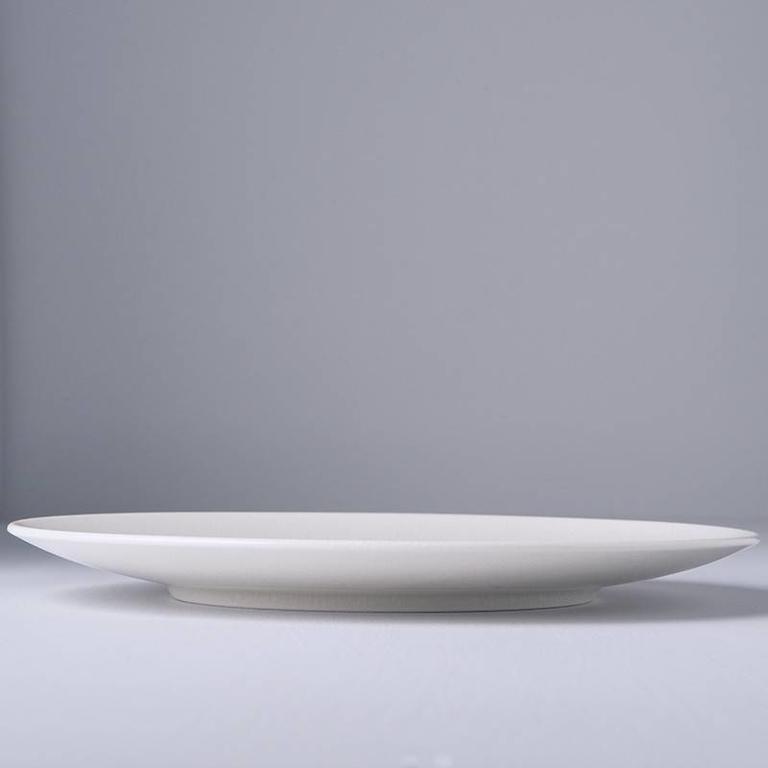 Ivory Crazed Design Round Dinner Plate 28cm