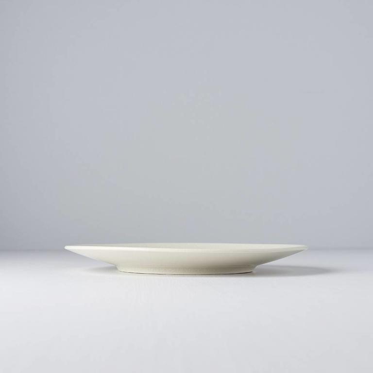 Ivory Crazed Design Round Plate 22cm