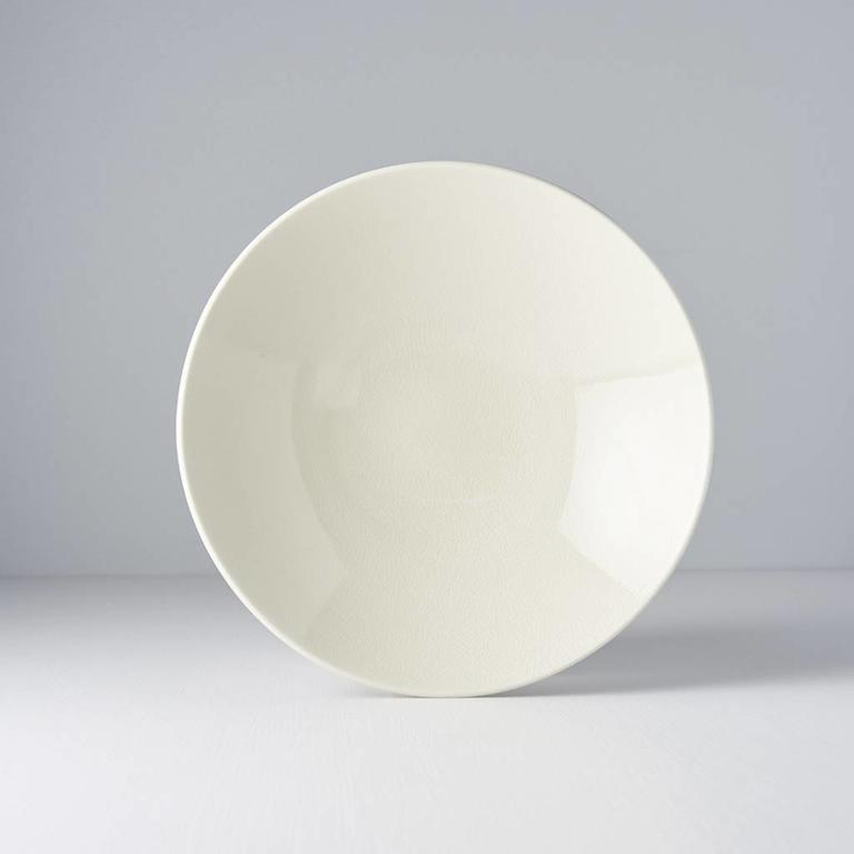 Ivory Crazed Ramen Bowl 24cm