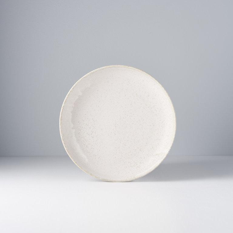 White fade high rim plate 20D x 4H
