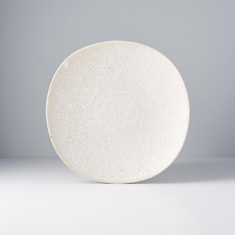 White Fade dinner plate 24.5D x 3.5H