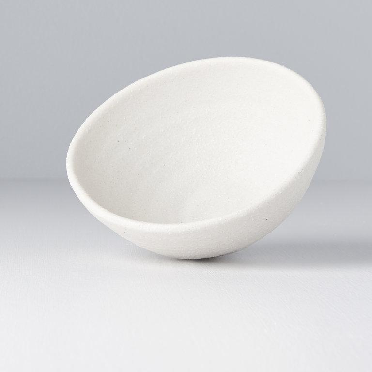 Shell White Egg Shaped Bowl 13cm x 12cm x 5.5cm