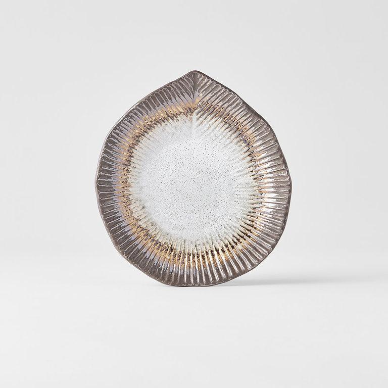 Akane Grey ridge plate 17cm x 16cm