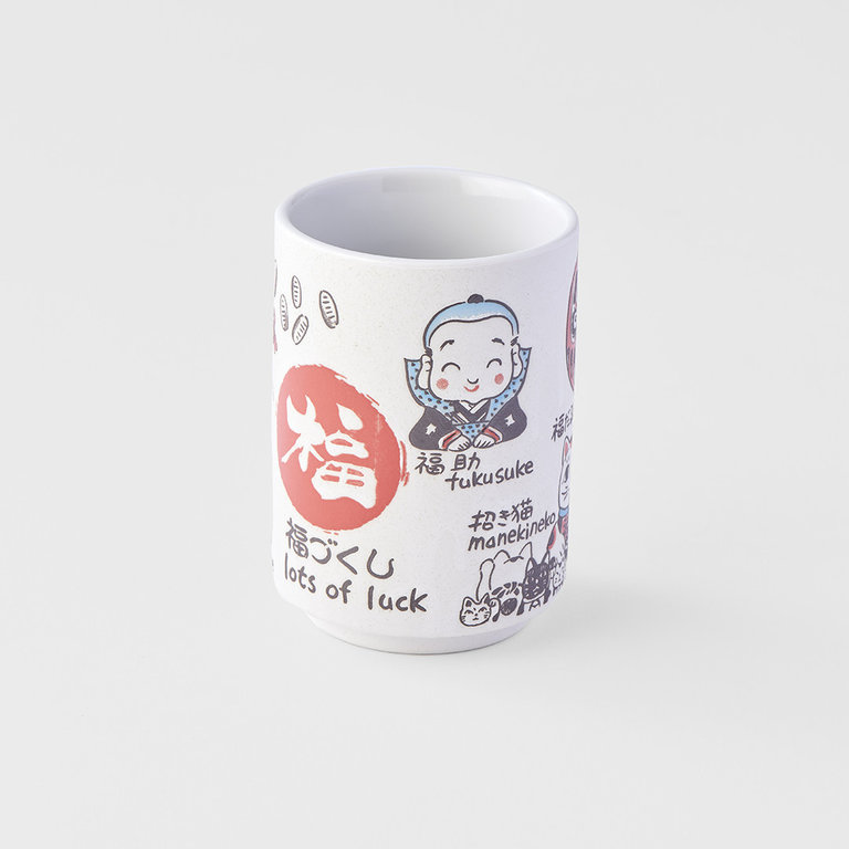 Sushi mug lots of luck Japanese symbols 10cm 275ml