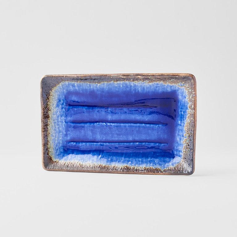 Cobalt Blue sushi plate Rectangle 21cm x 13cm