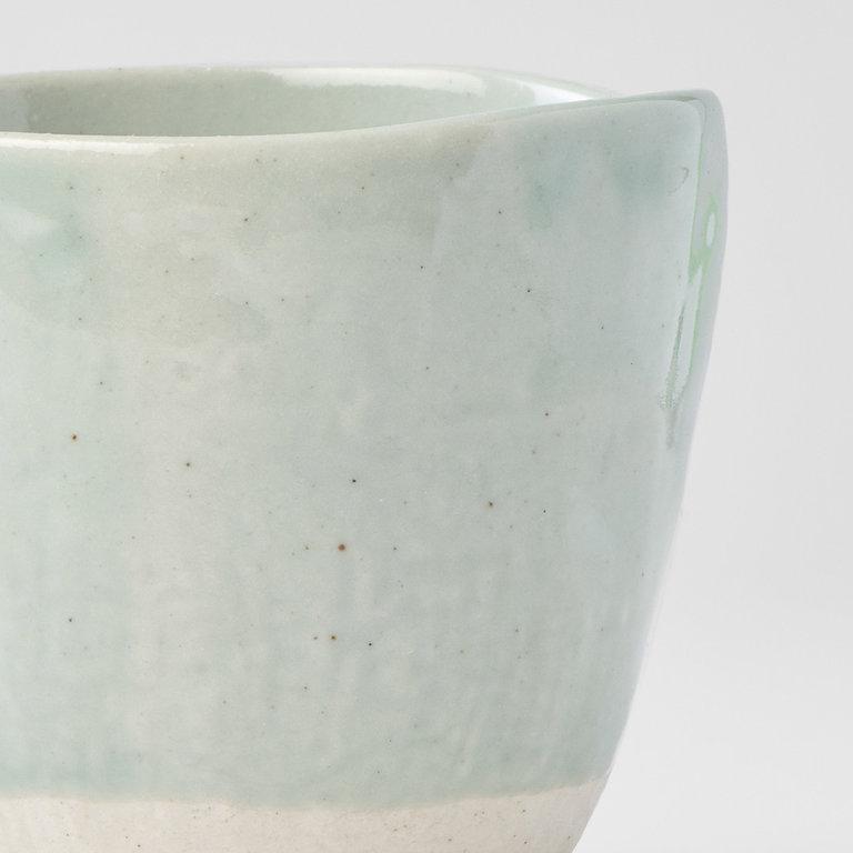 Lopsided mug tomei blue & bisque 9.5cm 275ml