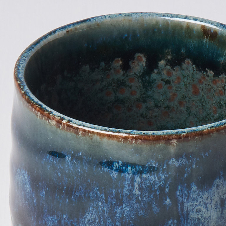 Sushi mug dark and light denim blue 11.5cm 400ml