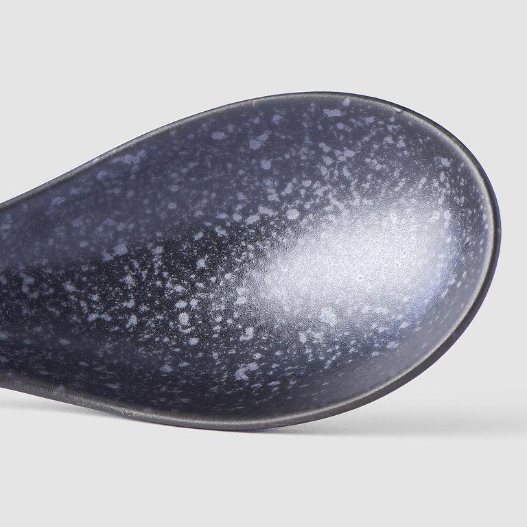 Spoon large 17.5cm matt black