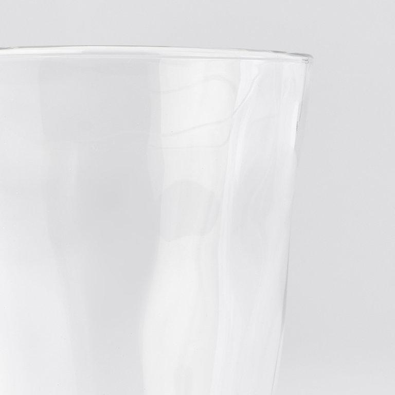 Glass tumbler free form 11cm 280ml