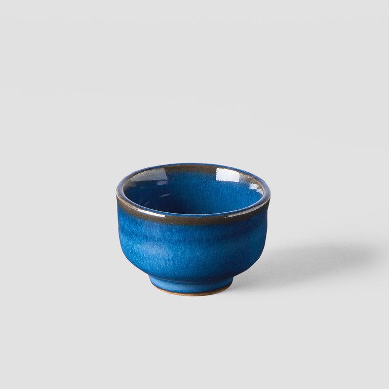 Sake cup open shape bright blue 30ml