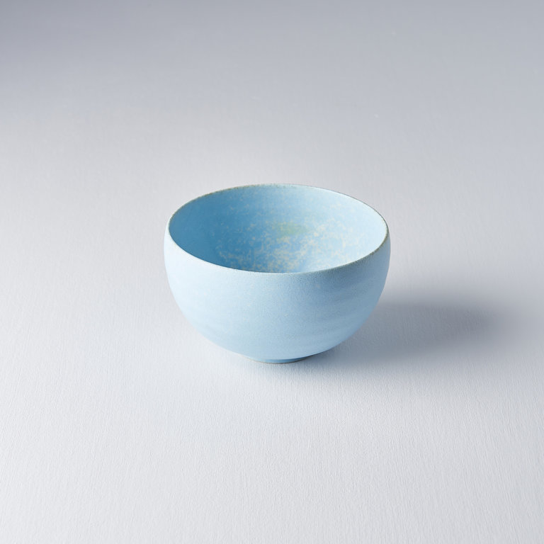Soda Blue U-shaped bowl 13cm x 7.5cm