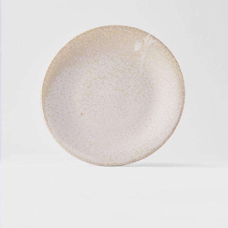 White Fade side plate  21cm x 2.5cm