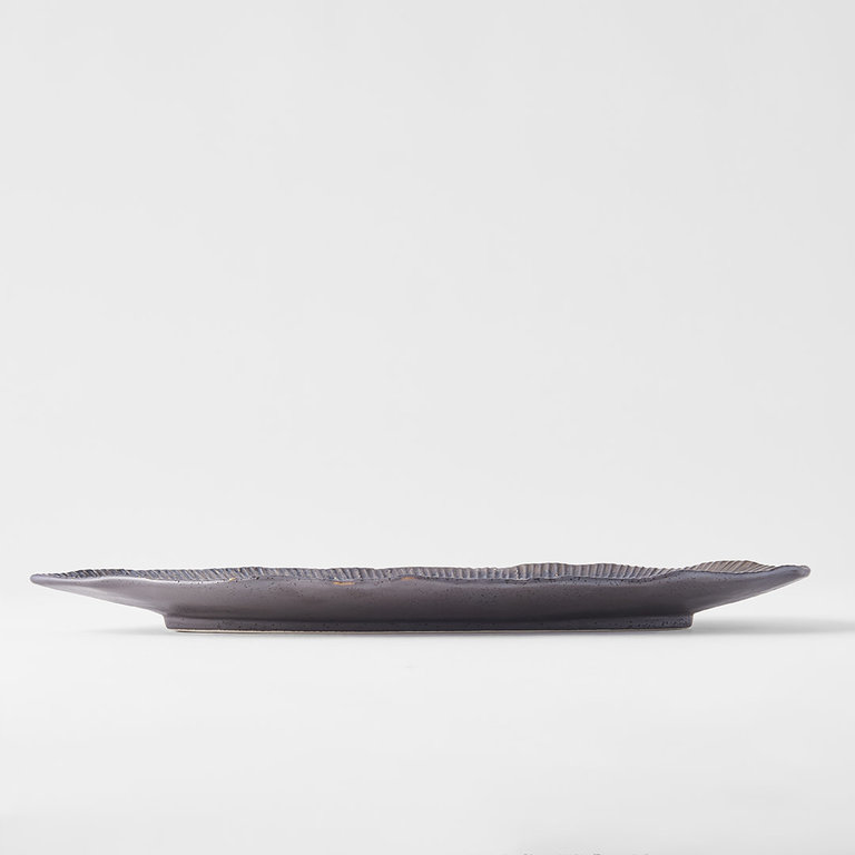 Midori ridge oval plate 32 x 13.5cm