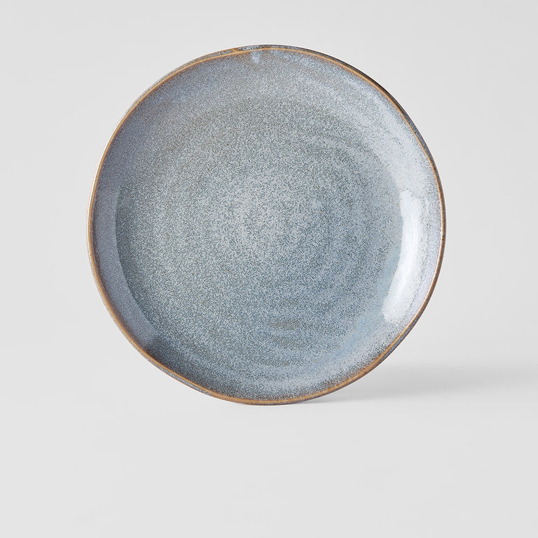 Steel Grey dinner plate uneaven 24cm x 3cm