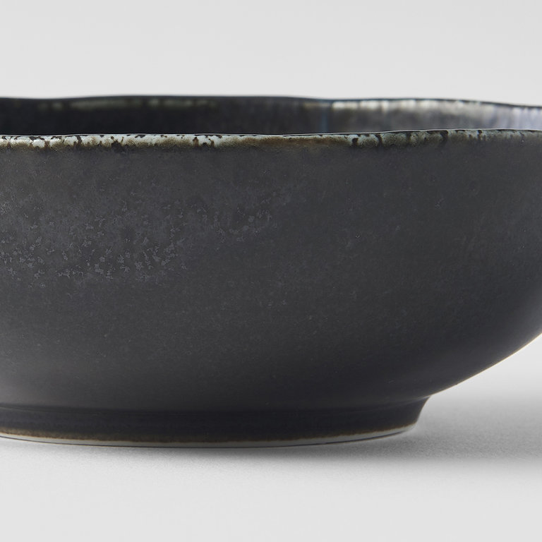 BB Black open oval bowl 14cm x 13cm x 4cm
