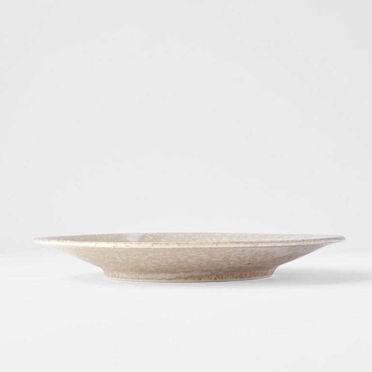 White Fade tapas plate 17cm x 2cm