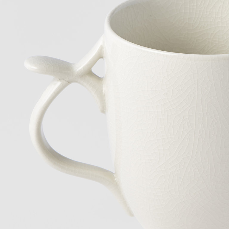 Mug with handle & thumb rest white 11cm