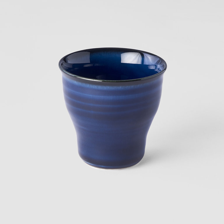 Sapphire Blue fluted teacup 7cm x 6cm 80ml