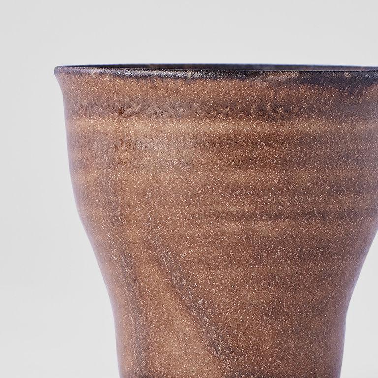 Cocoa fluted teacup with narrow base 7cm x 6.5cm 80ml