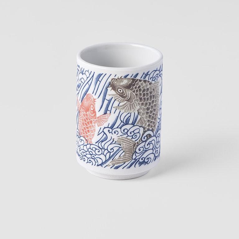 Sushi mug Carp design 7cm x 10cm 275ml