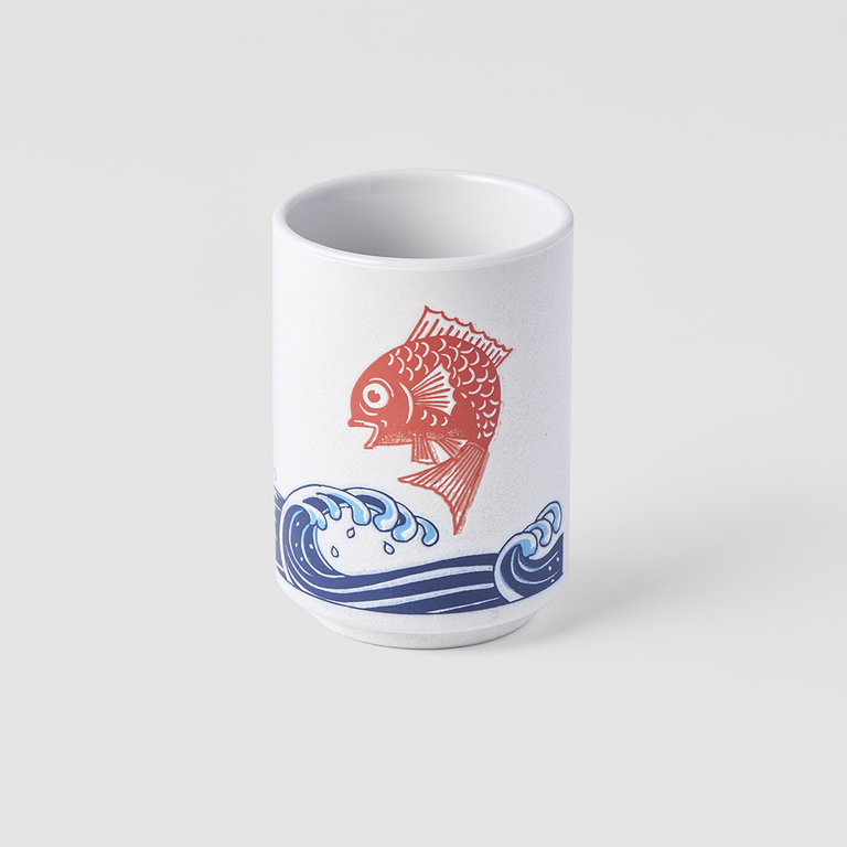 Sushi Mug waves and red snapper 7cm x 10cm