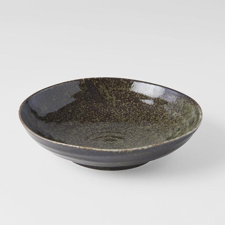 Sage shallow open bowl 21cm x 5cm