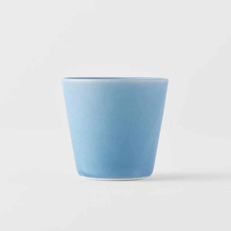V-Shape teacup blue 7.5cm x 7cm 150ml