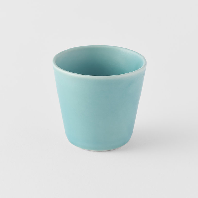 V-Shape teacup aqua 7.5cm x 7cm 150ml