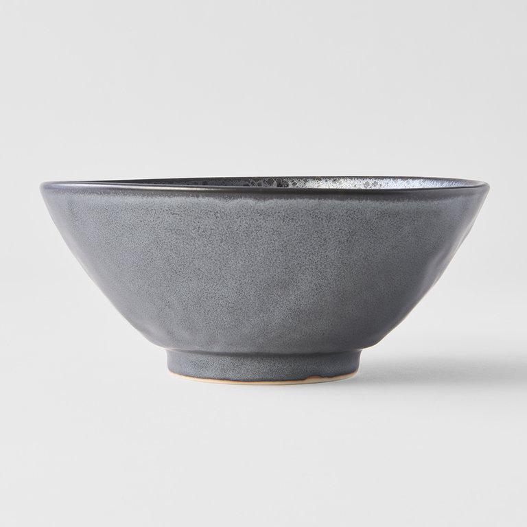 Black Pearl udon bowl 20cm x 8.5cm