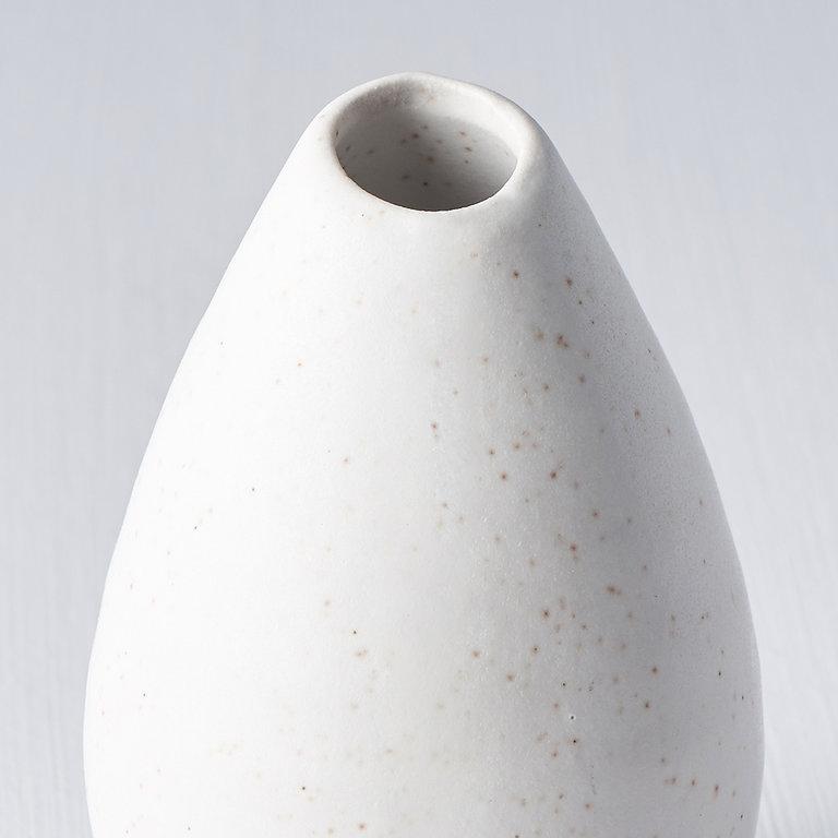 Vase small pinecone matt white 9cm
