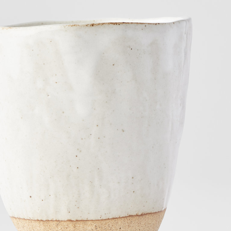 Lopsided mug large white and bisque 9.5cm 275ml