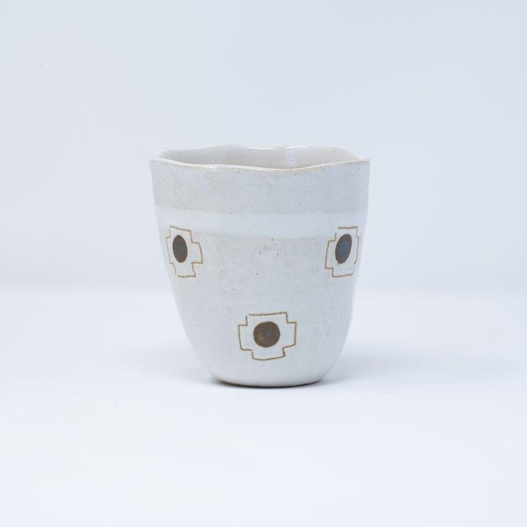 Lopsided sushi mug oatmeal with red symbol 9.5cm