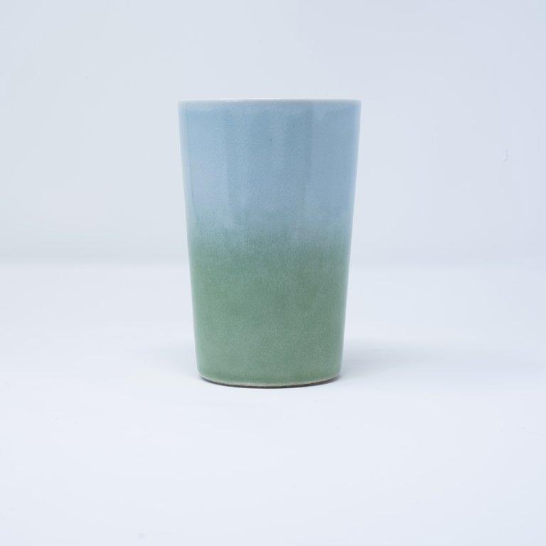 Sushi Mug green fade light to dark green