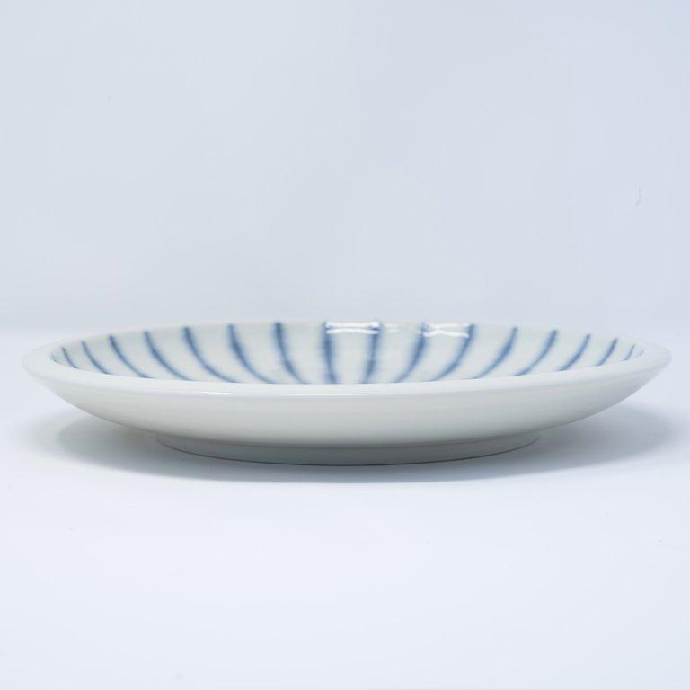 Focus white round plate 25cm x 3cm