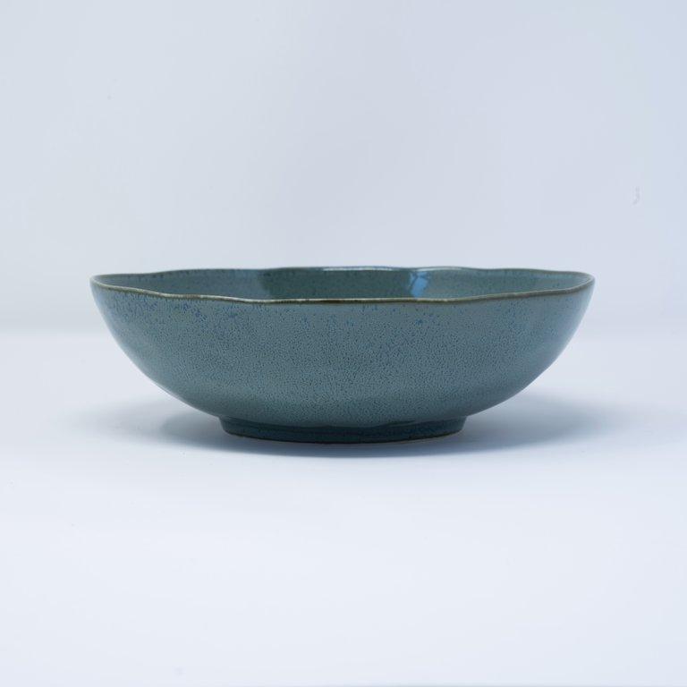 Peacock oval bowl large 20cm x 18cm x 6cm