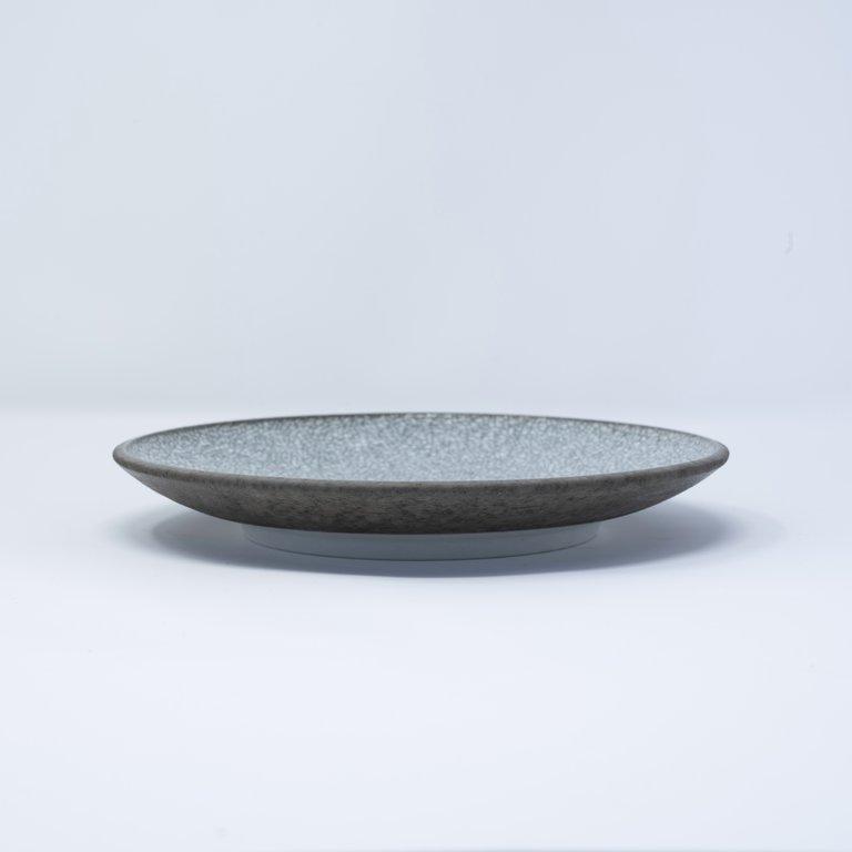 Crazed Grey side plate 20cm