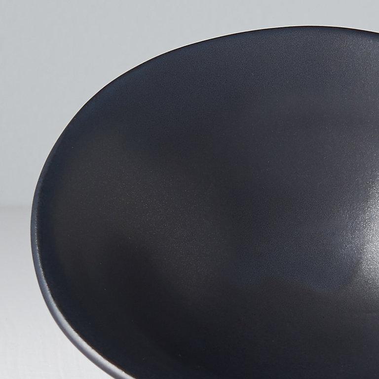 Modern Squashed Bowl small black  13cm