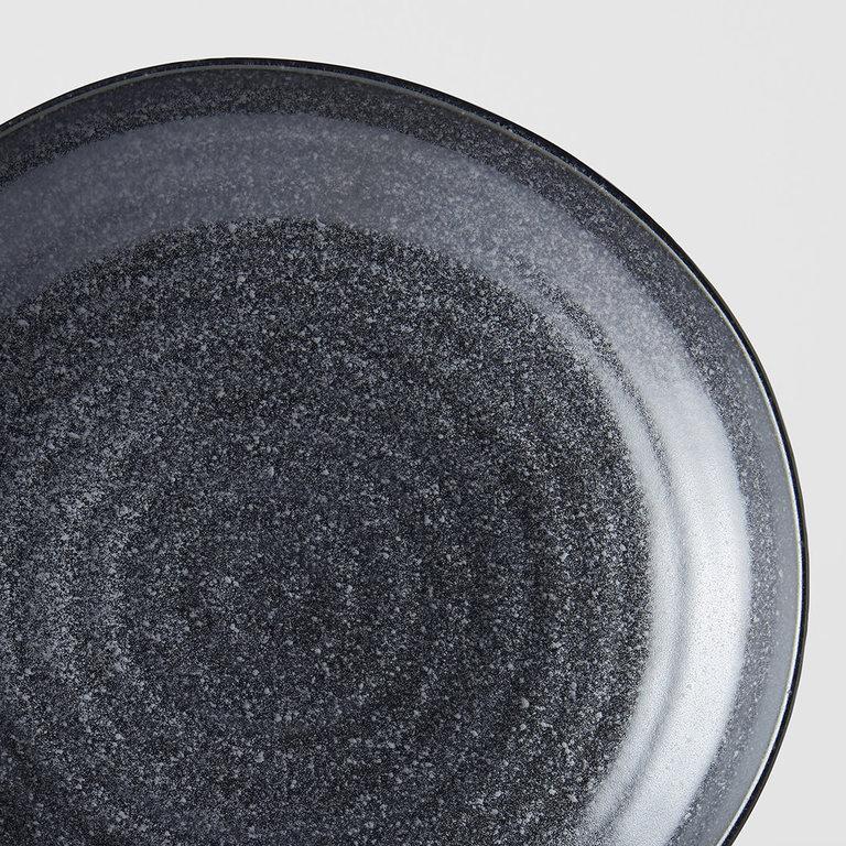 Matt Black Dinner plate off centre 23cm