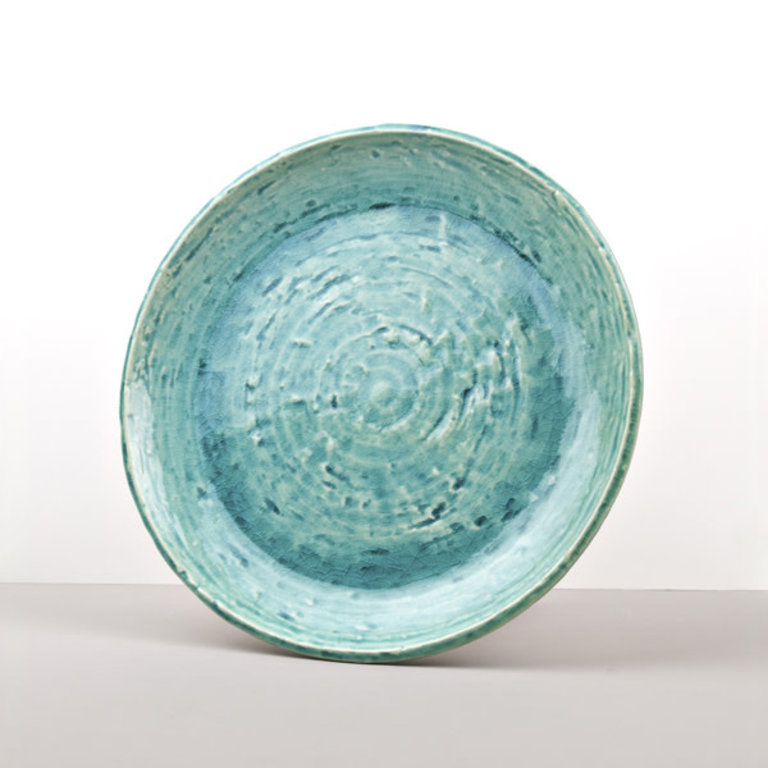 Turquoise plate 28cm