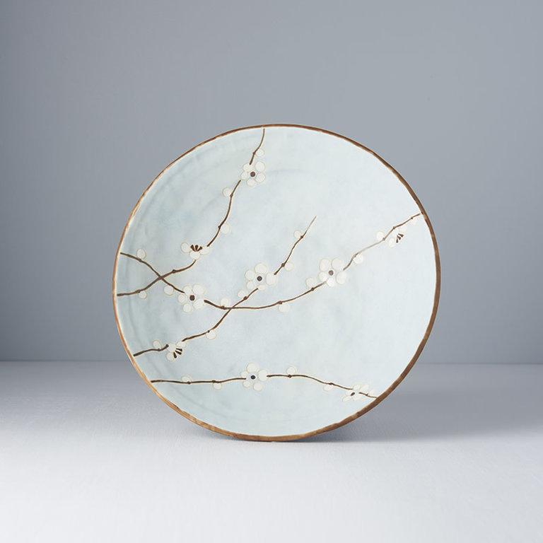 Blue Blossom shallow open bowl 24cm