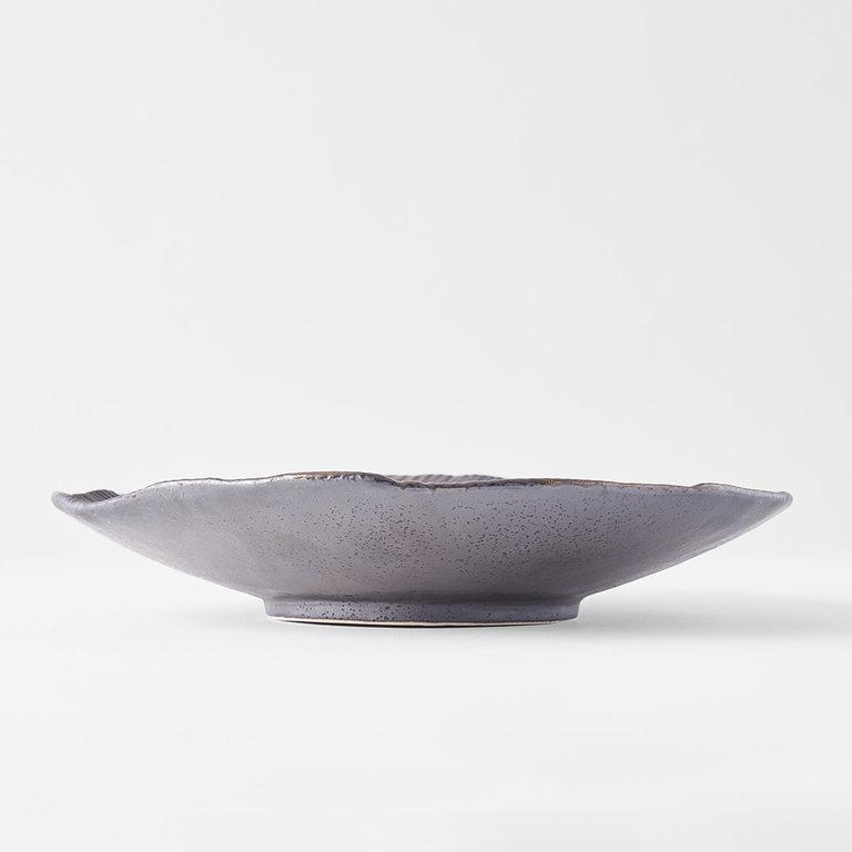 Midori Ridge shallow bowl 25.5cm x 23cm