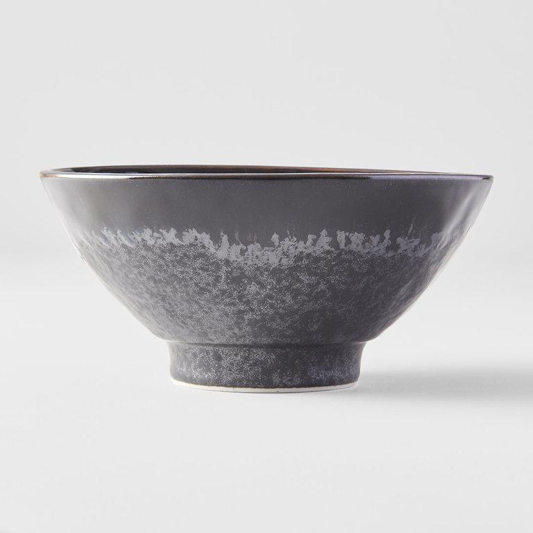 Matt W' Shiny Black Edge medium bowl 16cm x 7.5cm