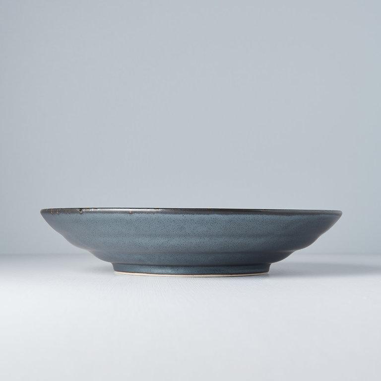 Black Pearl flat based serving bowl 29cm x 6cm